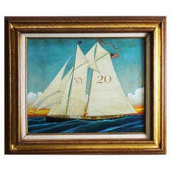 Edward Larson Painting, Boat