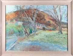 Edward Lewis (1936-2018) - Signed & Framed Contemporary Oil, Morning Landscape