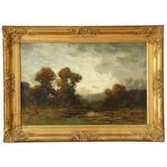 Fine Barbizon Tonalist Antique Landscape Oil Painting by Edward Loyal Field