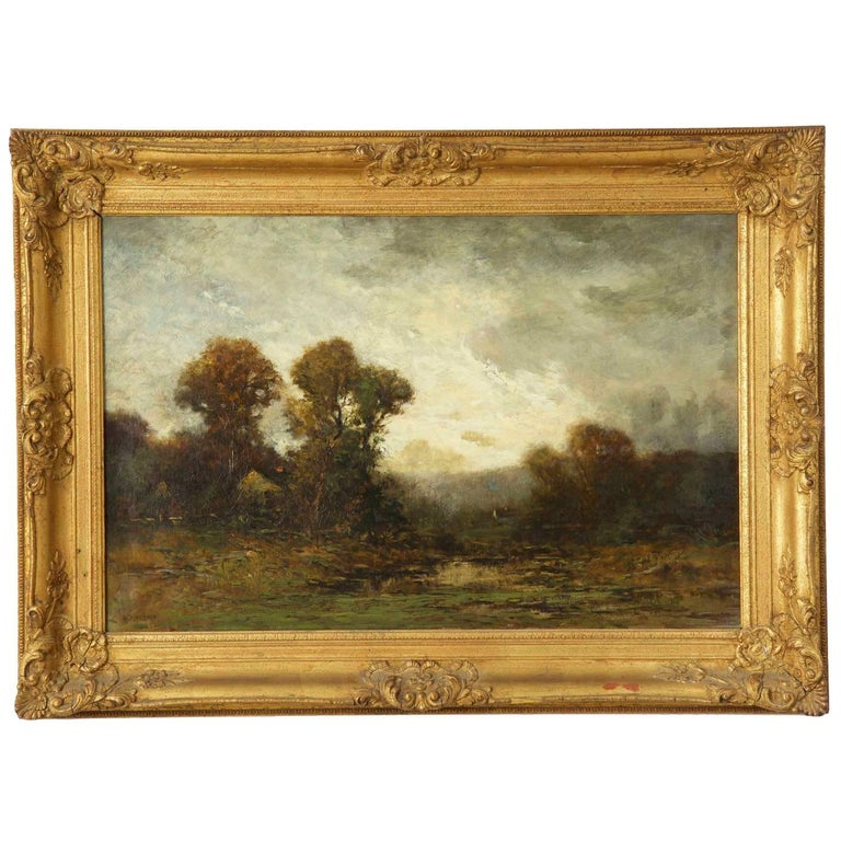 Edward Loyal Field Tonalist Antique Landscape Oil Painting