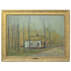 "Edward Mack Hawkins, ""The Widow's Mite"" Oil on Canvas, WWI"