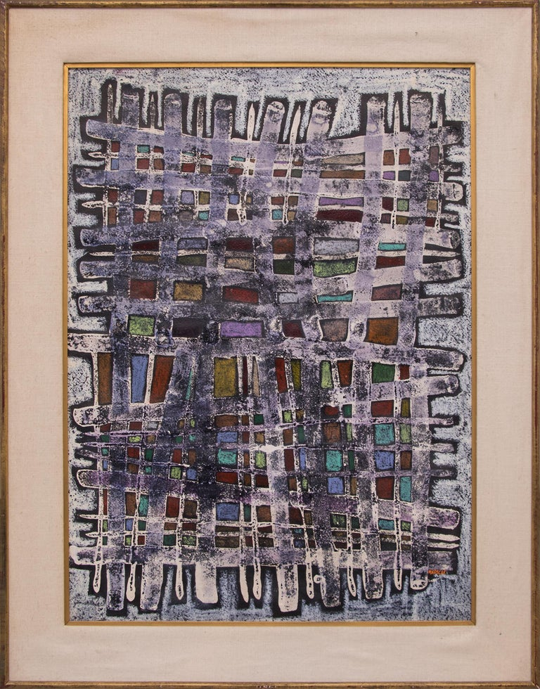 Warp and Woof (Abstract Painting) - Mixed Media Art by Edward Marecak