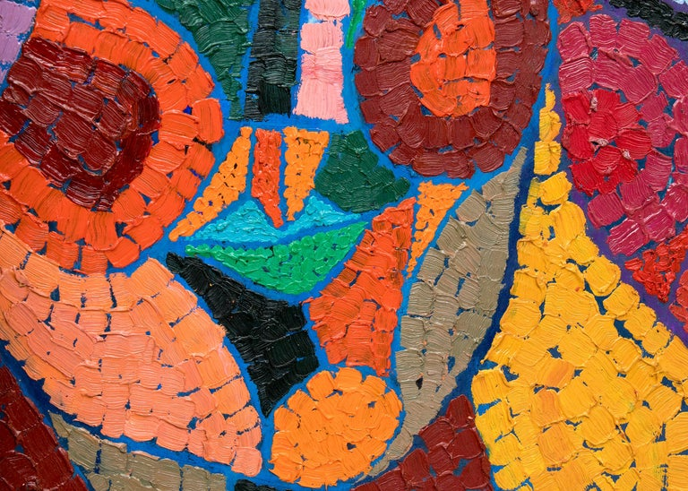 The Three Fates Thinking Mysterious Thoughts, Semi-Abstract Cubist Female Heads For Sale 1