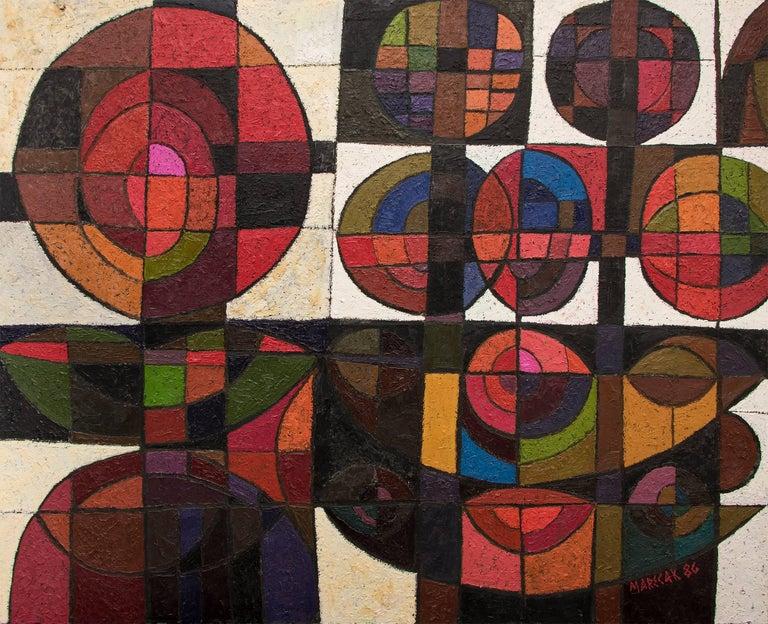 Edward Marecak Abstract Painting - Untitled