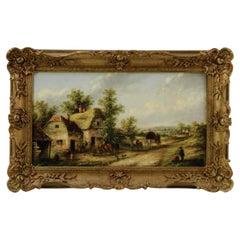 Edward Masters, Farmyard, Oil Painting Ca. 1878