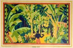 Original Vintage Poster Banana Palms Empire Marketing Board EMB McKnight Kauffer
