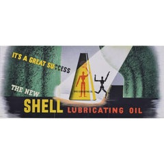 Original Vintage Poster for Shell: Lubricating Oil 1937 Edward McKnight Kauffer