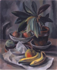 Bananas & Apples in a Compote, American Modernism, Still Life, c. 1920-22