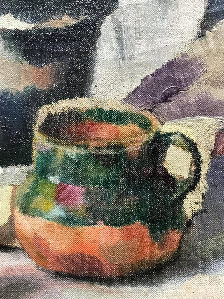 Cyclamen, Modernist Still Life Painting, 1922 For Sale 1