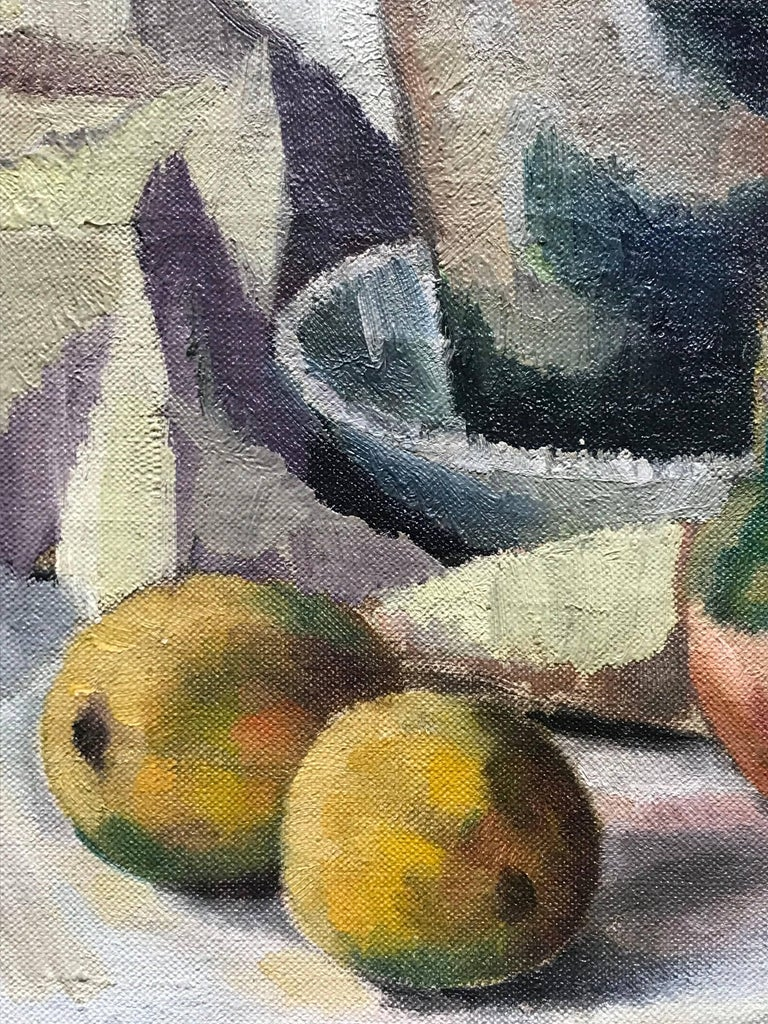 Cyclamen, Modernist Still Life Painting, 1922 For Sale 2