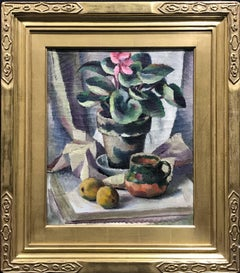 Cyclamen, Modernist Still Life Painting, 1922
