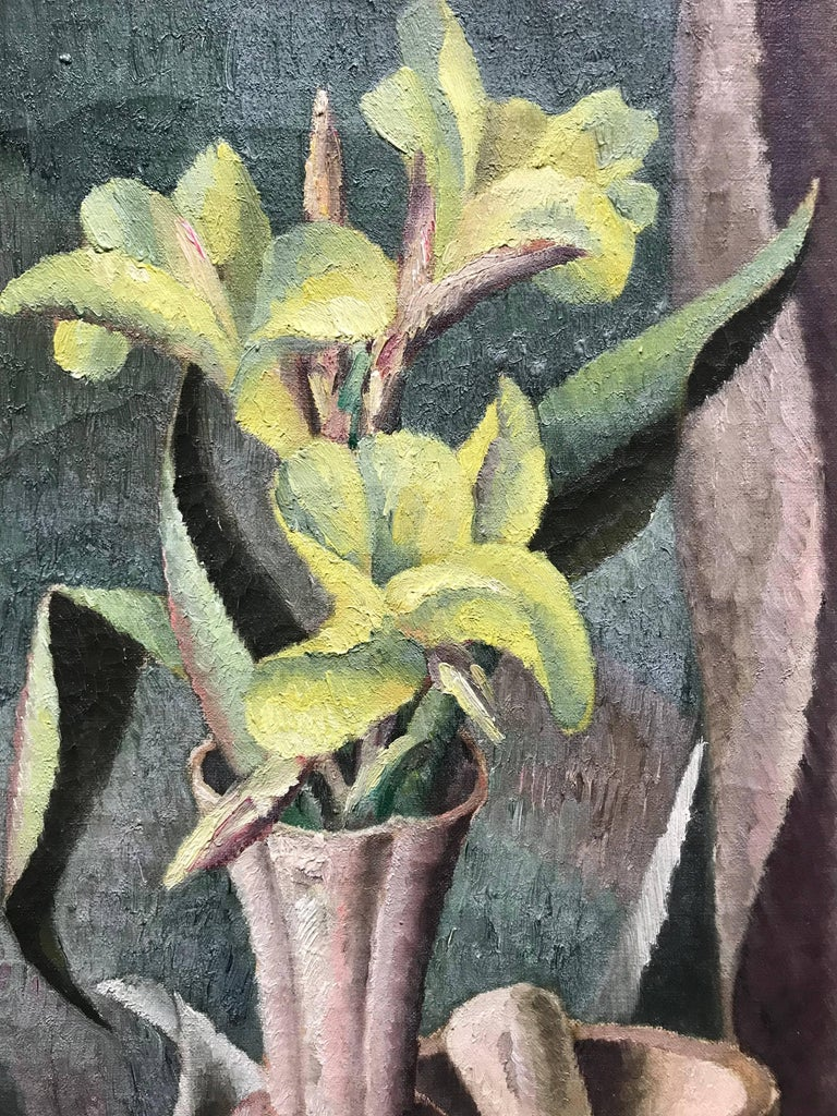 Flowers in a Vase, Modernist Still Life Painting, c. 1921-1922 - Gray Still-Life Painting by Edward Middleton Manigault