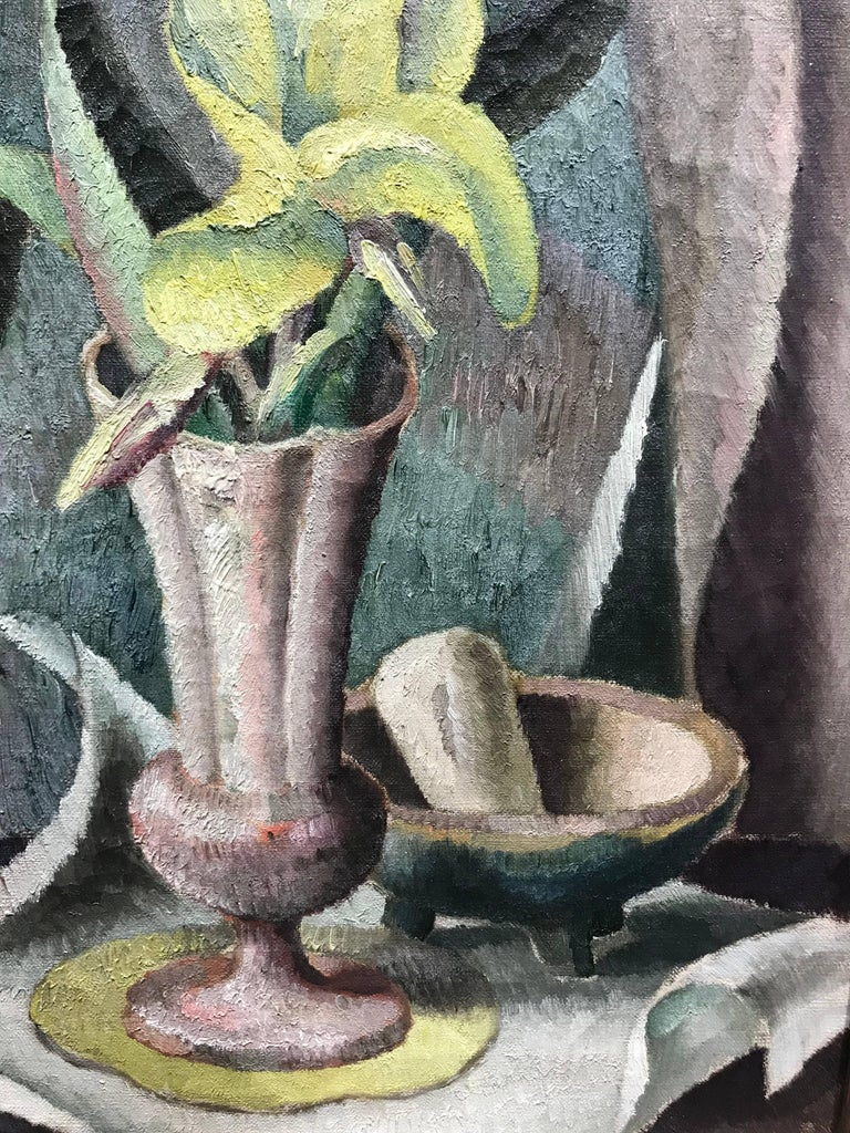 Flowers in a Vase, Modernist Still Life Painting, c. 1921-1922 For Sale 1