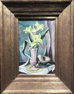 Flowers in a Vase, Modernist Still Life Painting, c. 1921-1922
