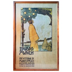 Edward Munch, Antique Exhibition Poster, Prague, 1905
