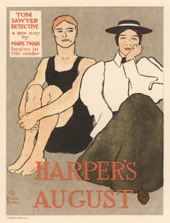 Harper's August, Tom Sawyer Detective by Mark Twain by Edward Penfield, 1897