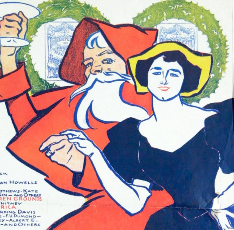 Harper's Christmas Poster by Penfield - Print by Edward Penfield