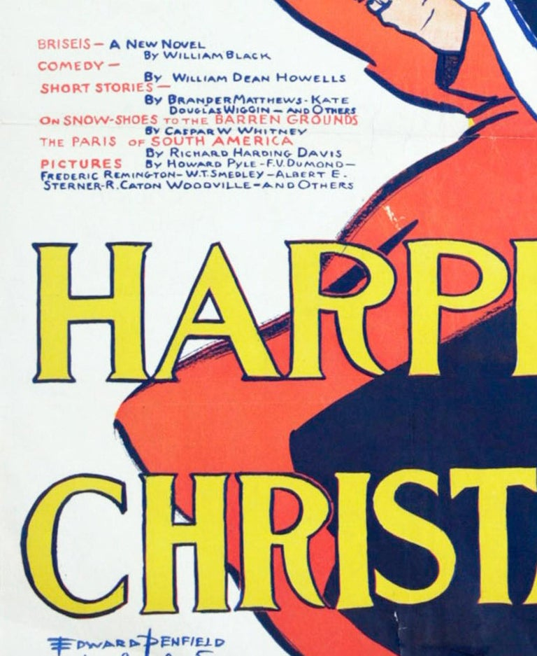 Harper's Christmas Poster by Penfield - Art Nouveau Print by Edward Penfield