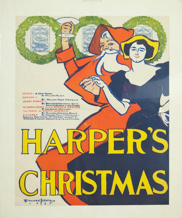 Edward Penfield Figurative Print - Harper's Christmas Poster by Penfield