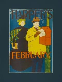 "Harper's February (1895) ""To My Valentine"""