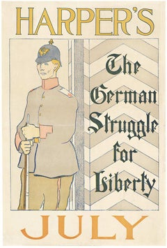 Harper's July,  The German Struggle for Liberty original art nouveau poster