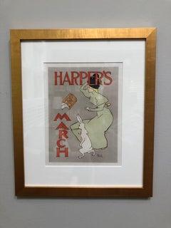"""Harpers Magazine """"March Hare"""" Maitres de l'Affiche"""