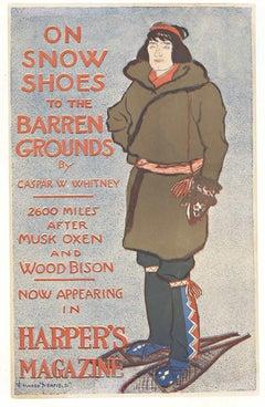 Original Harper's Magazine vintage poster by Edward Penfield, 1895