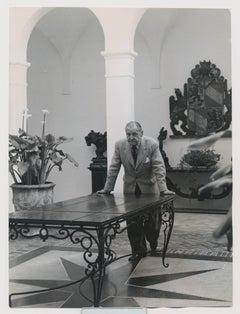 British playwright W. Somerset Maugham in the atrium