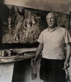 Portrait of Pablo Picasso in Studio
