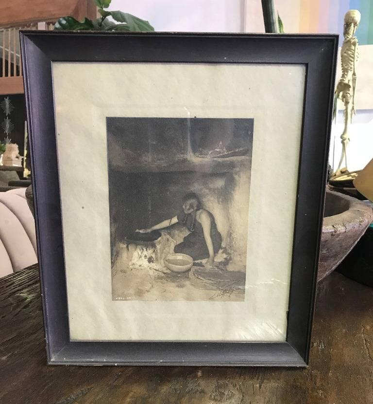American Edward S. Curtis Original Signed and Stamped Silver Toned Platinum Print, 1906 For Sale