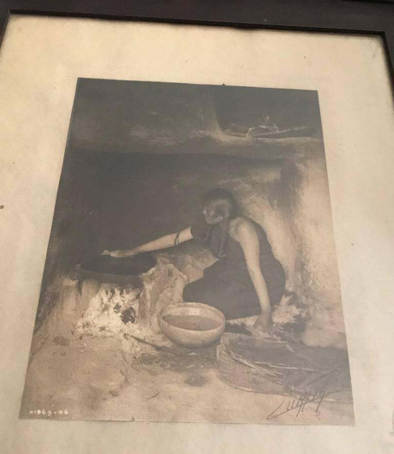 Edward S. Curtis Original Signed and Stamped Silver Toned Platinum Print, 1906 For Sale 2