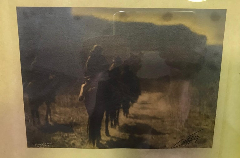 American Edward S. Curtis Original Signed Stamped Platinum Print the Vanishing Race, 1904 For Sale