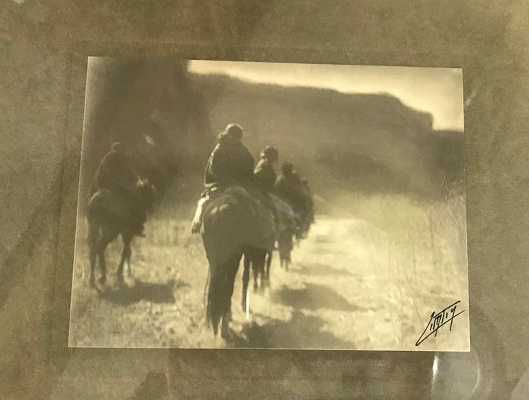 Edward S. Curtis Original Signed Stamped Platinum Print the Vanishing Race, 1904 In Good Condition In Studio City, CA