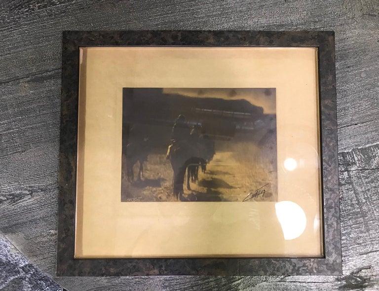 Edward S. Curtis Original Signed Stamped Platinum Print the Vanishing Race, 1904 For Sale 1