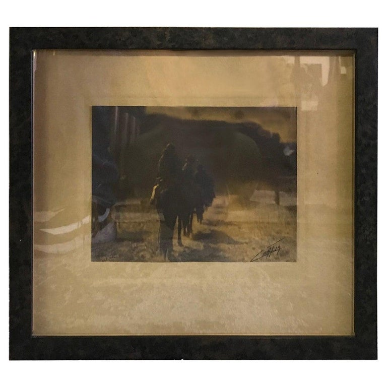 Edward S. Curtis Original Signed Stamped Platinum Print the Vanishing Race, 1904 For Sale