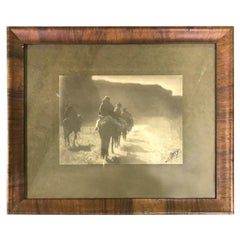Edward S. Curtis Original Signed Stamped Platinum Print the Vanishing Race, 1904