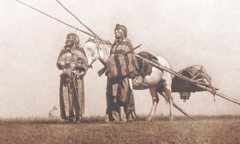 A Travois: Blackfoot - Photorealist Photograph by Edward Sheriff Curtis