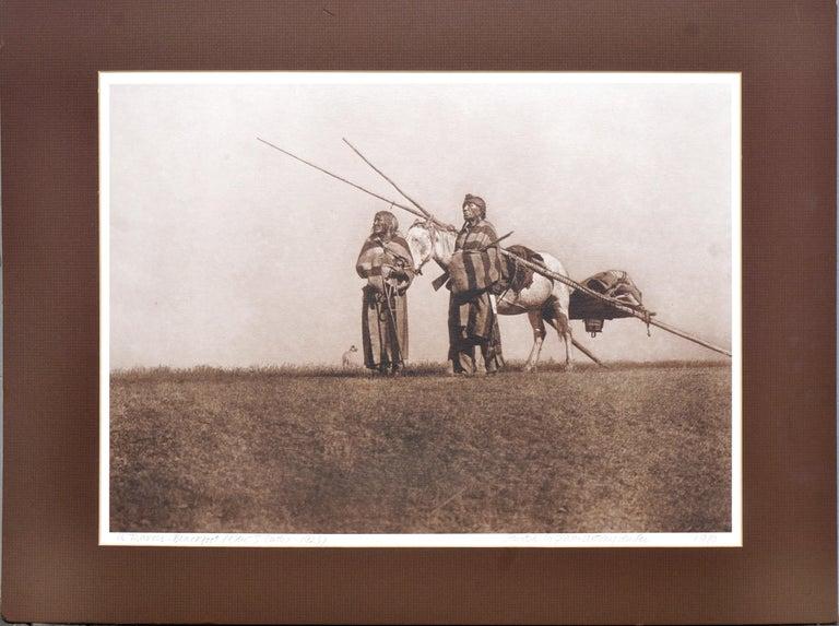 Edward Sheriff Curtis Figurative Photograph - A Travois: Blackfoot