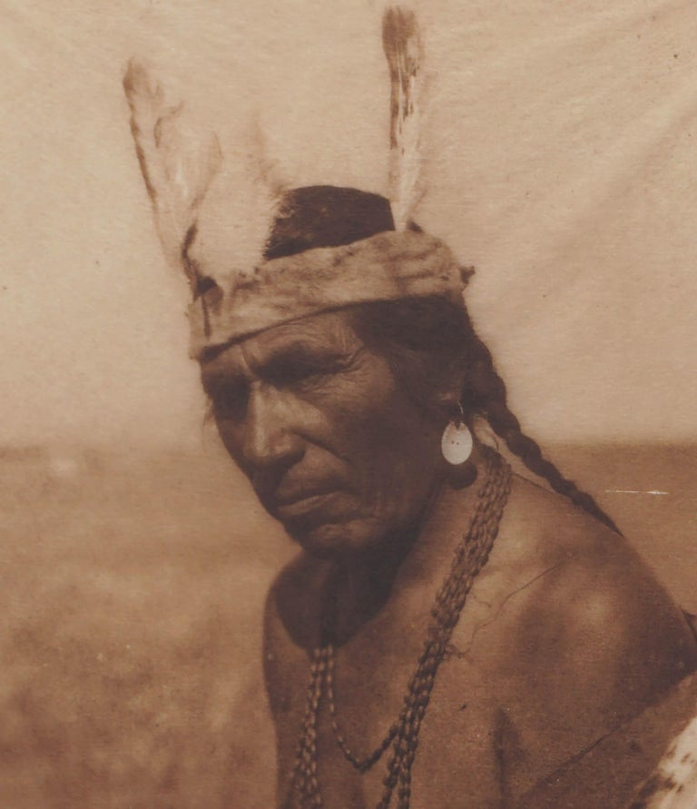 Early 20th Century Photogravure of Blackfoot Soldier -- Fat Horse  - Realist Photograph by Edward Sheriff Curtis