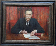 Portrait of Physician Theodore Stacey Wilson - British Victorian oil painting