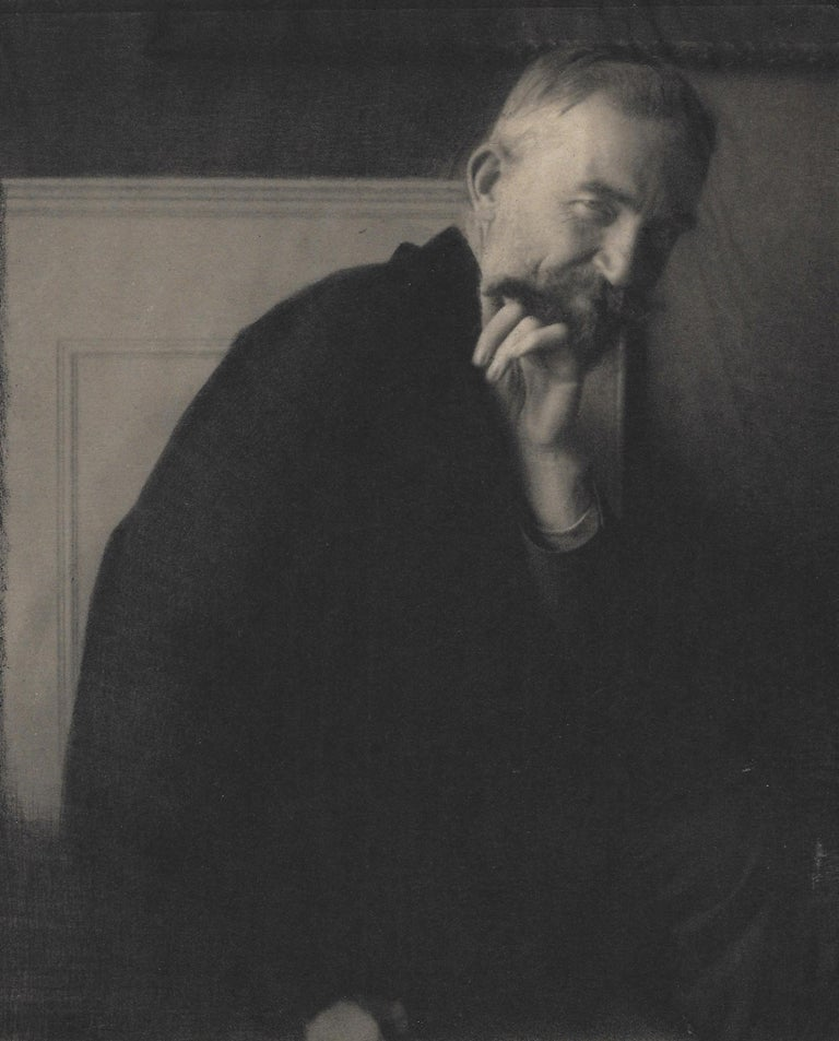 Edward Steichen. The Photographer's Best Model-Bernard Shaw, 1913, photogravure - Black Portrait Photograph by Edward Steichen
