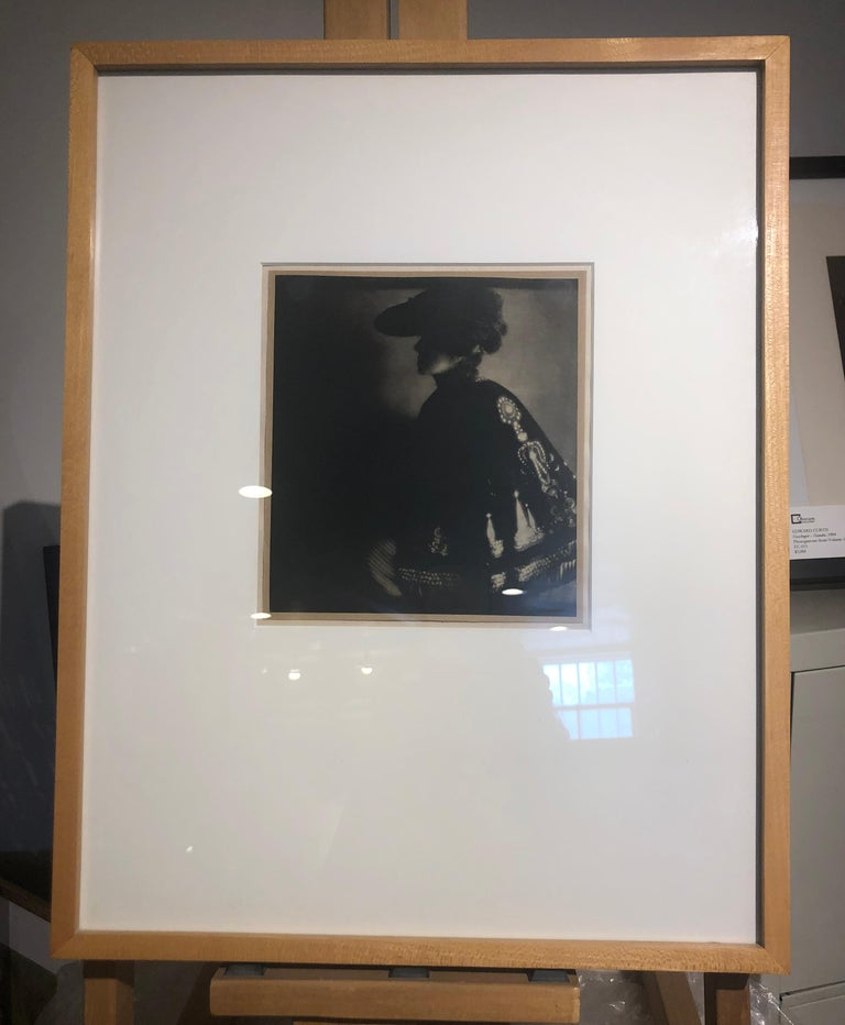 Poster Lady, 1906, from Camerawork, Steichen Supplement, photogravure - Black Portrait Photograph by Edward Steichen