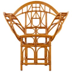 Edward Tuttle for McGuire Bamboo Rattan Butterfly Chair