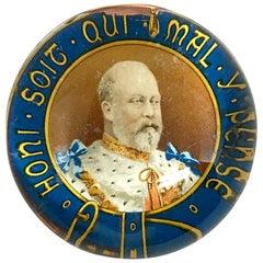 Edward VII Glass Paperweight