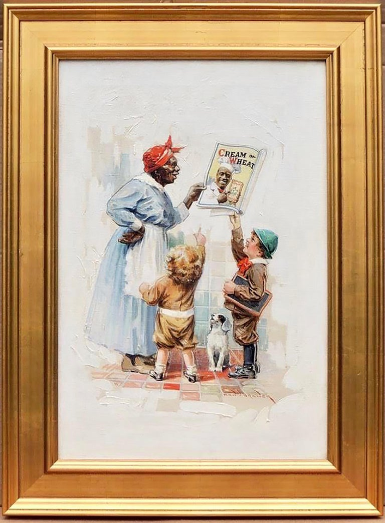 Cream of Wheat Advertisement, Saturday Evening Post, May 5, 1920 - Painting by Edward Brewer