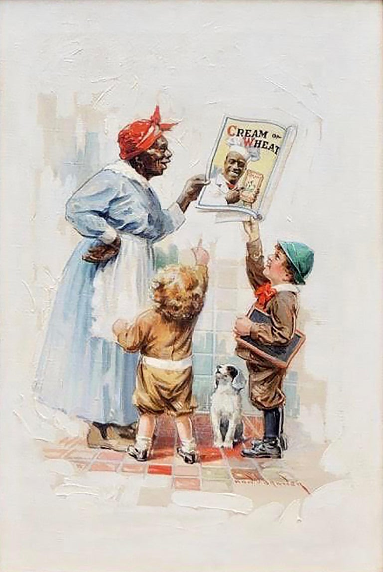 Edward Brewer Figurative Painting - Cream of Wheat Advertisement, Saturday Evening Post, May 5, 1920