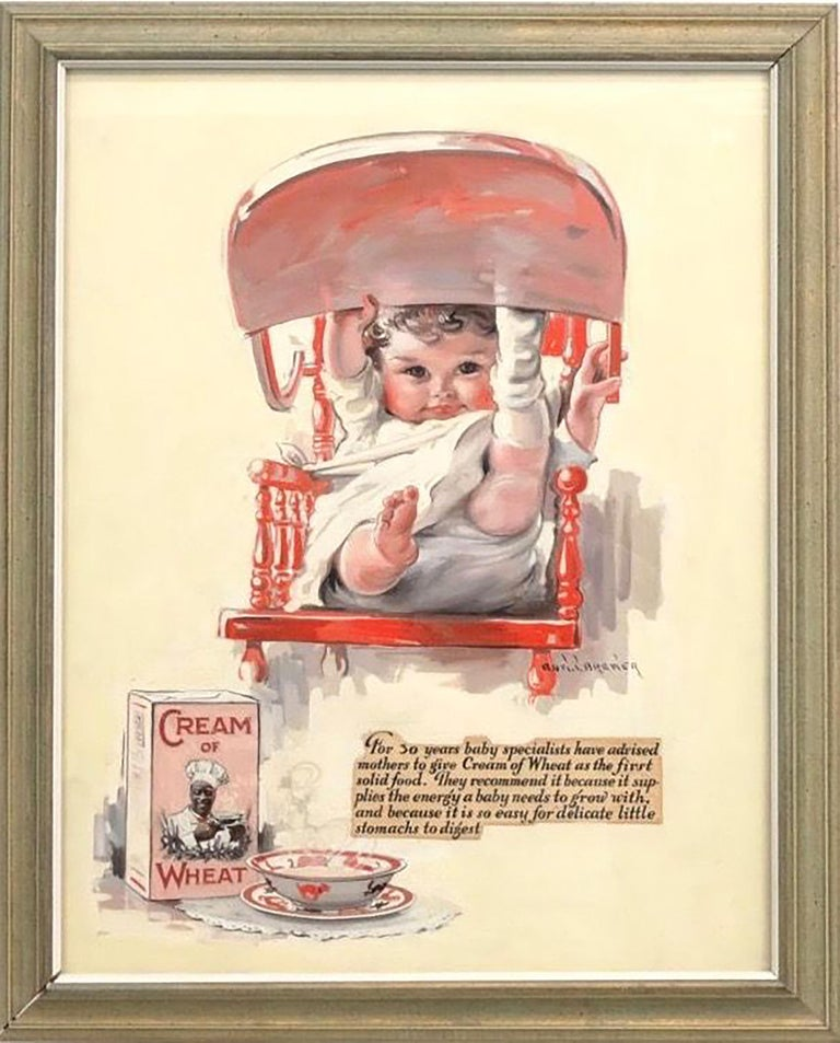 Cream of Wheat Baby - Painting by Edward Brewer