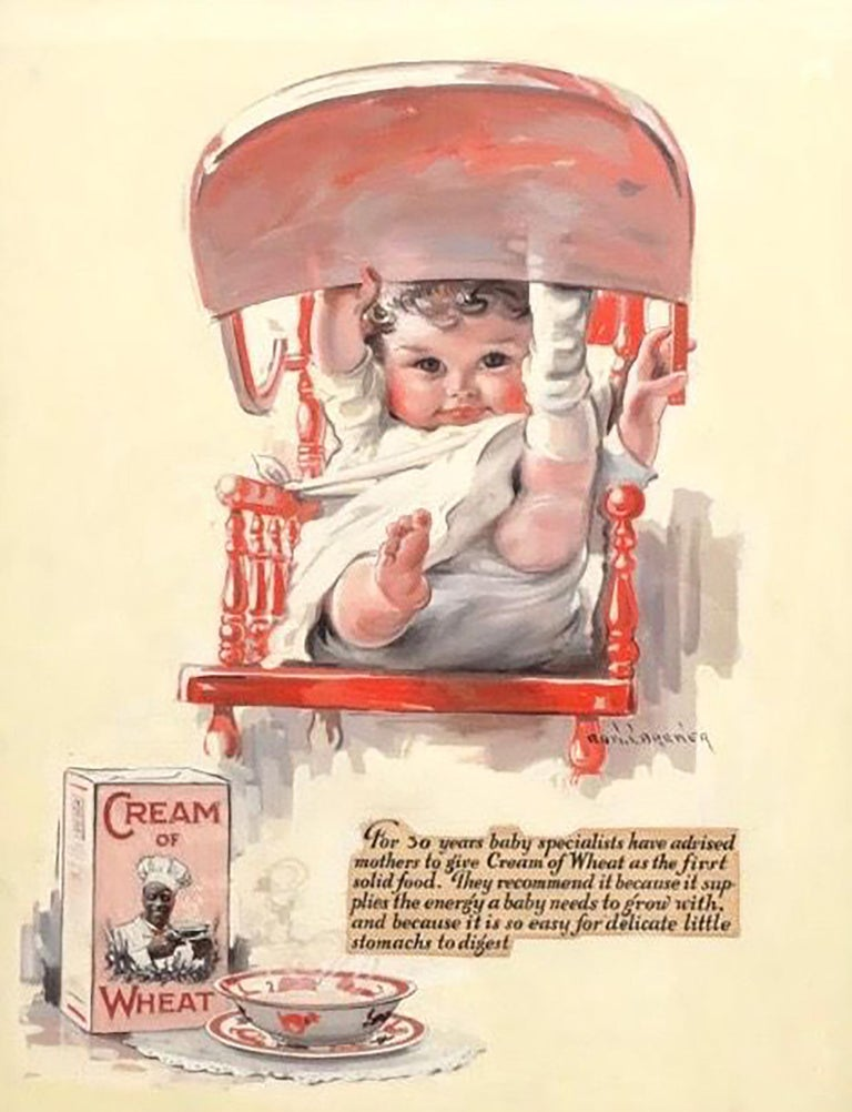 Edward Brewer Figurative Painting - Cream of Wheat Baby