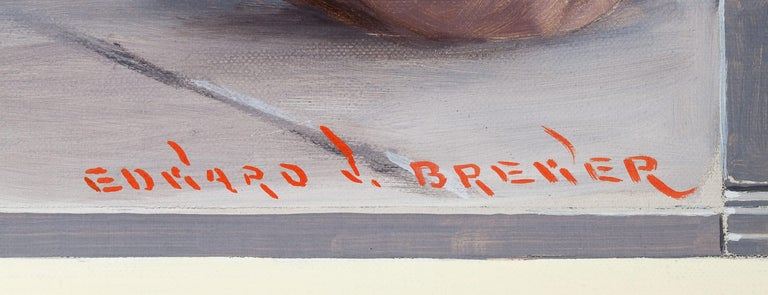 The Boys of Today Are the Men of Tomorrow, Cream of Wheat Advertisement - Beige Figurative Painting by Edward Brewer