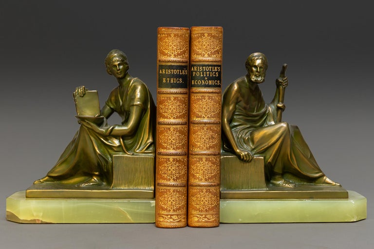 """2 Vols.  Bound in 3/4 Tan Calf, Marbled Boards and Edges, Raised Bands, Ornate Gilt On Spines. Published: London: Bell and Daldy 1866 and 1867   Measures: H 7"""", D 4 3/4"""", W 1""""."""